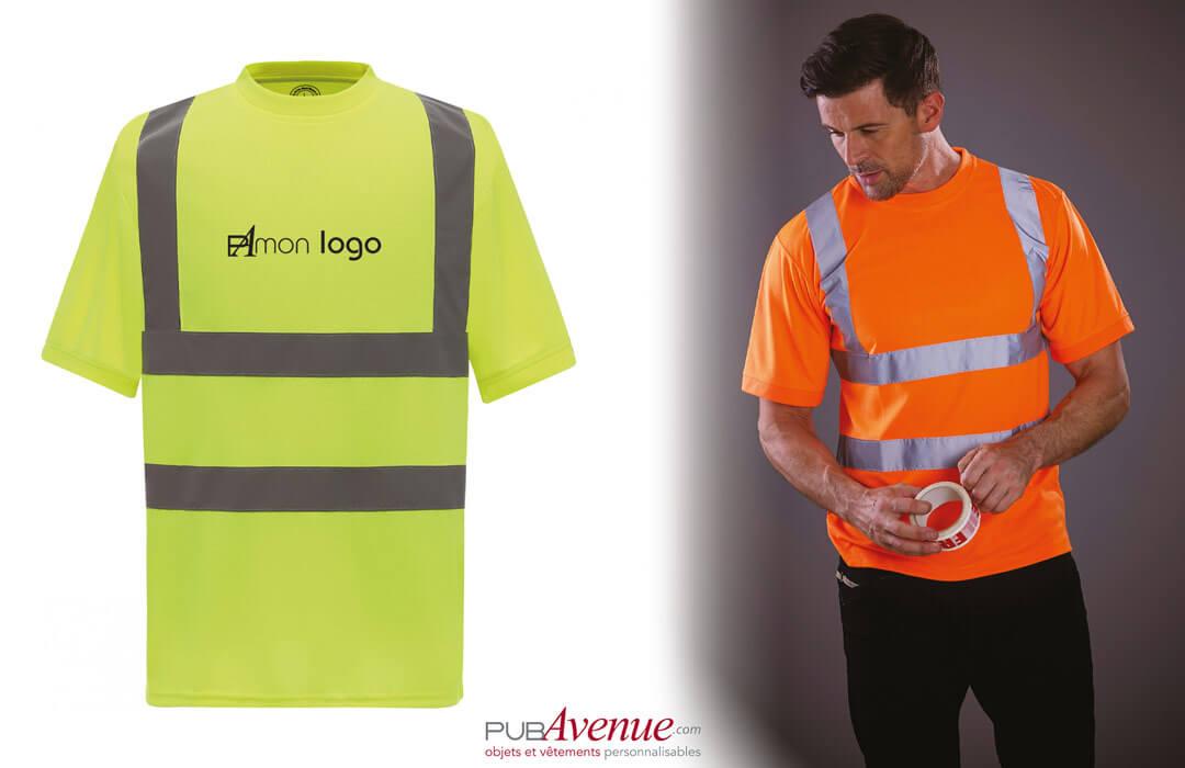 tee shirt de sécurité de haute visibilité