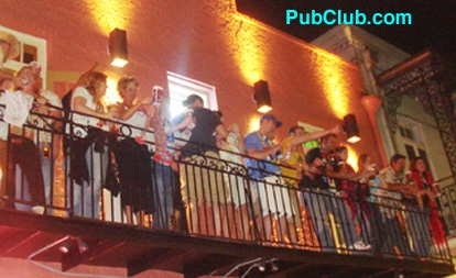 New Orleans Bourbon Street bars balcony