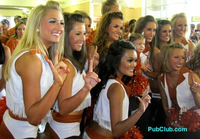 Texas cheerleaders