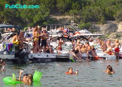 Lake Travis boat party Austin, Texas Devils Cove