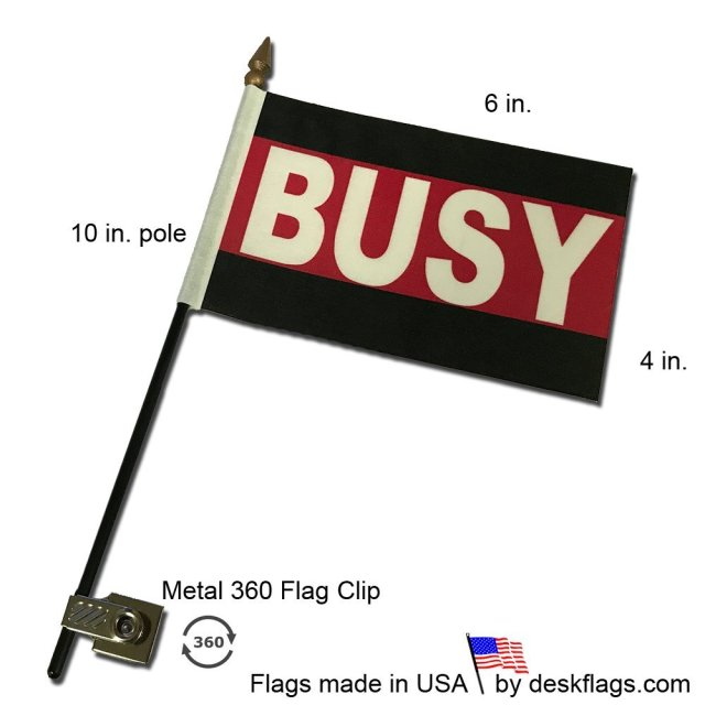 Busy Desk Flag with Flag Up Flag Down 360 Clip Pomodoro Status Alert Office
