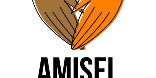 logo amisel avec main en forme de coeur
