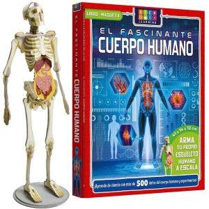 Libro El Fascinante Cuerpo Humano Libro + Maqueta Esqueleto