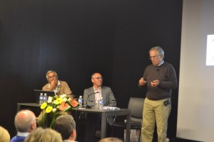 Jorge Carvalho Sousa (à esquerda), Francisco Lopes, Sobrinho Simões (à direita)