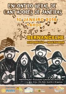 Cartaz do Encontro de Cantadores de janeiras/ Foto: Direitos Reservados