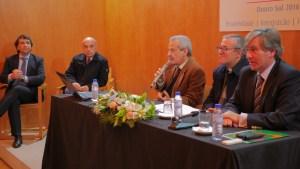 Na foto: Domingos Nascimento, António Marques Luís, Rui Cernadas, Bispo D. António Couto, Rui Nunes