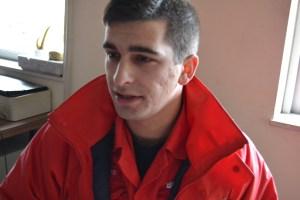 Carlos Badajoz, bombeiro de Tarouca / Foto: Salomé Ferreira