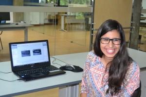 Andreia Matos, aluna da UTAD / Foto: Salomé Ferreira