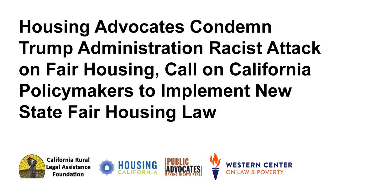 Statement: Housing Advocates Condemn Trump Administration