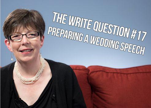 preparing wedding speech
