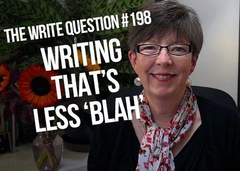 writing less blah