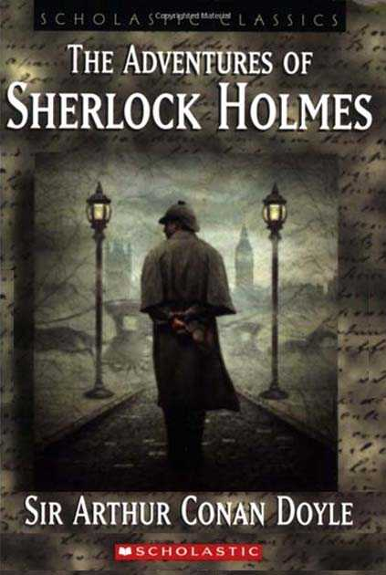 The cover of the book The Adventures of Sherlock Holmes.