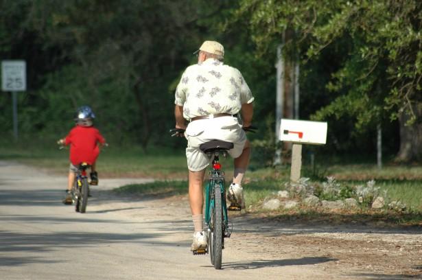 Abuelo y nieto Ciclismo