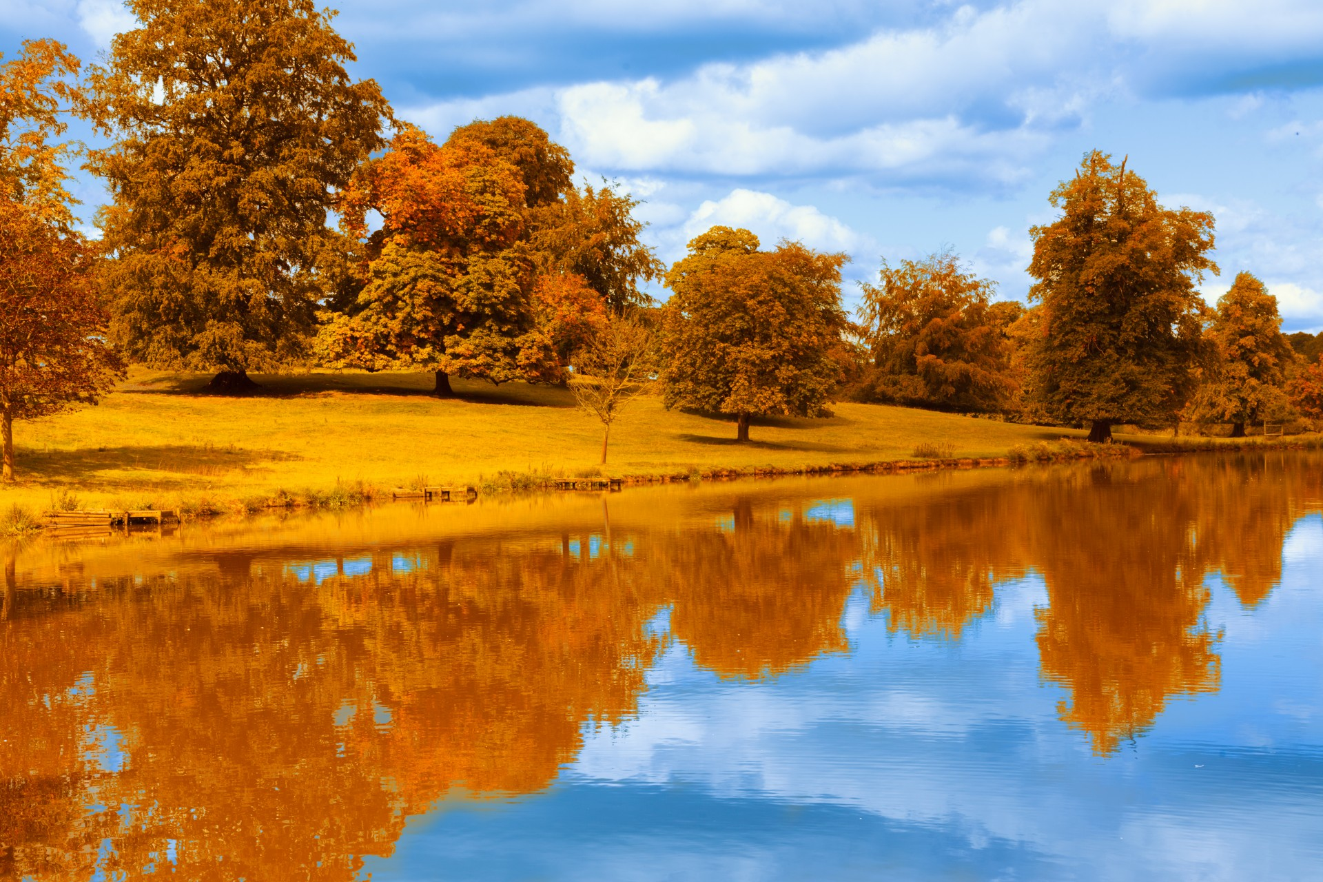 Fall Leaves Wallpaper Autumn By The Lake Free Stock Photo Public Domain Pictures