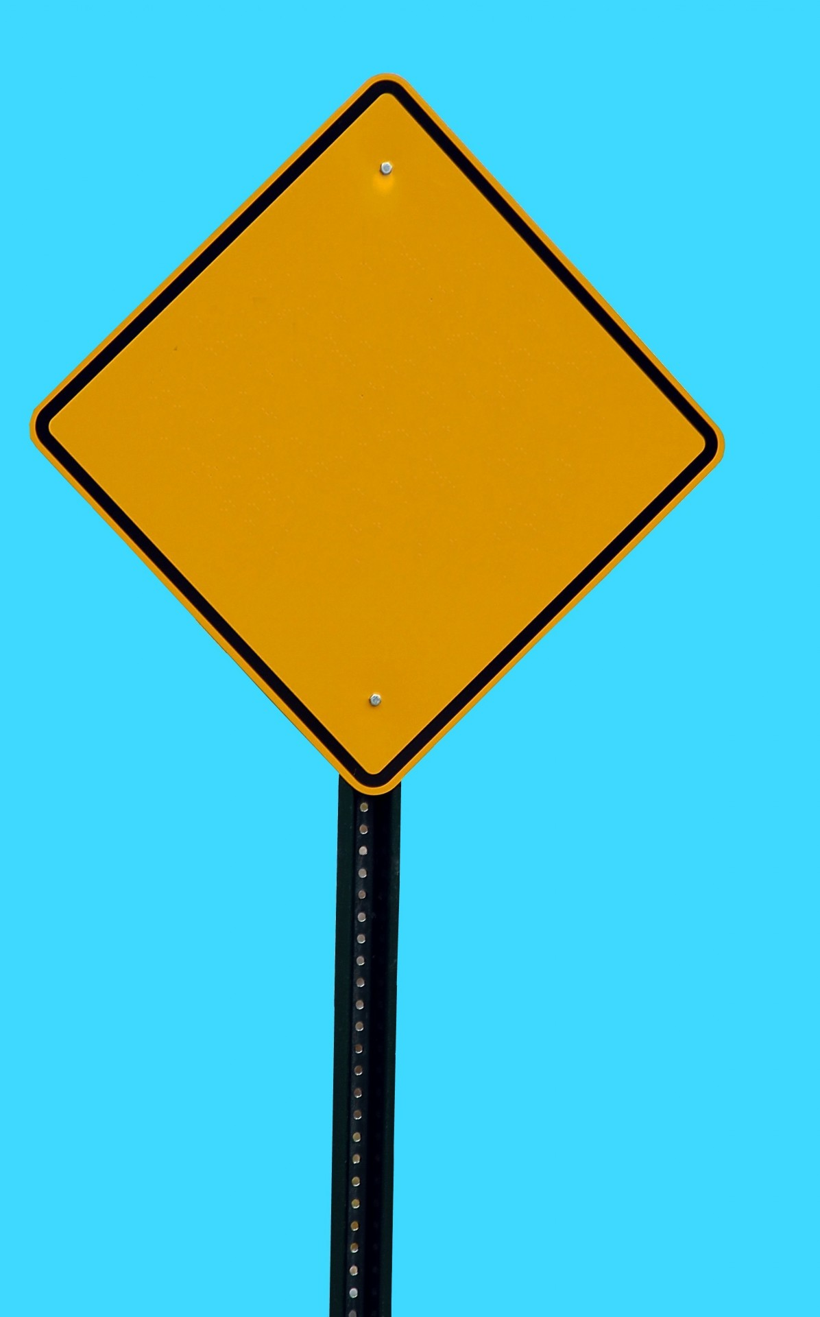 Blank Road Sign Free Stock Photo