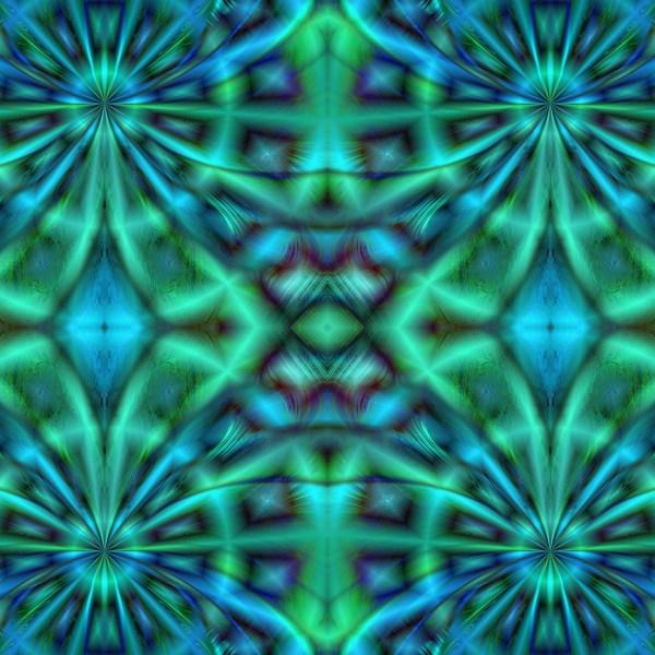Blue Green Kaleidoscope Free Stock - Public Domain