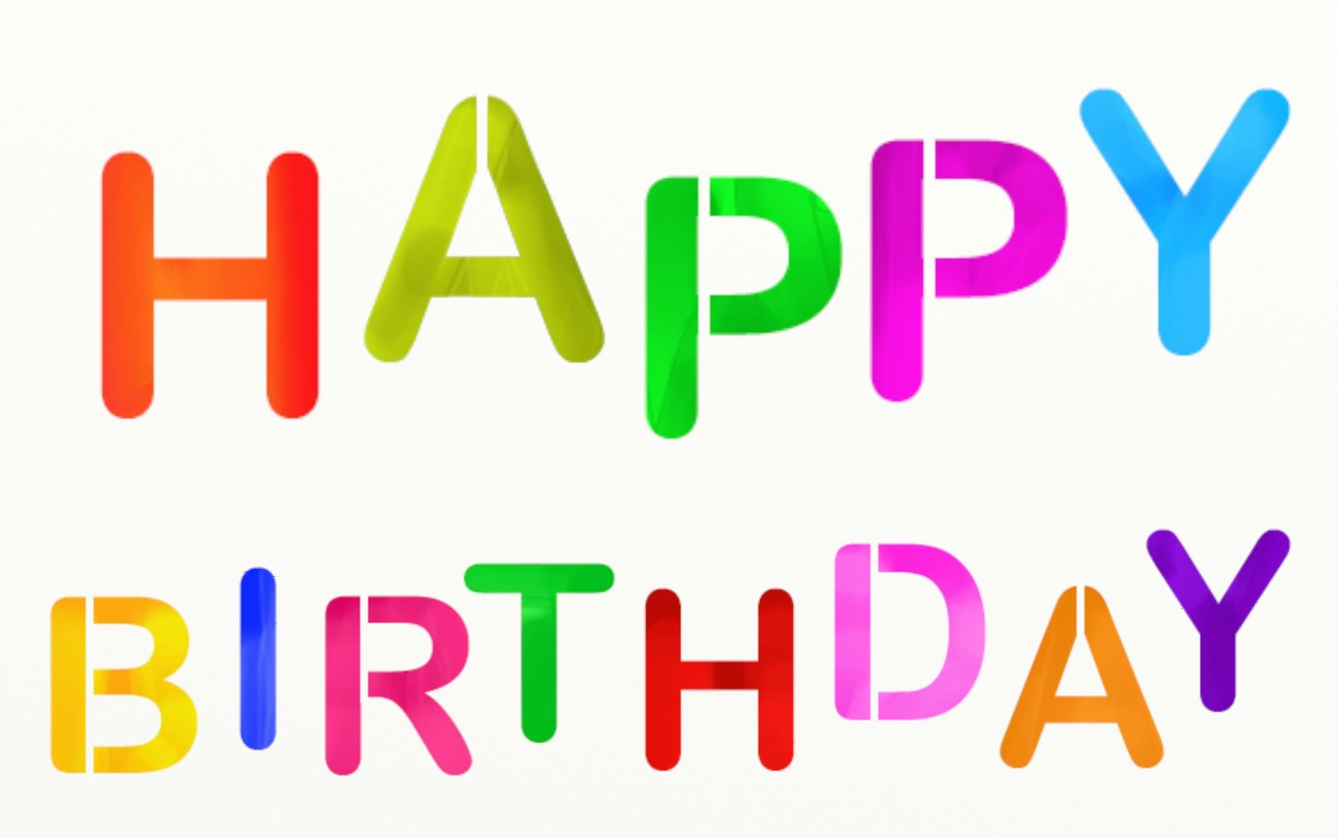 Happy Birthday Text Free Stock Photo  Public Domain Pictures