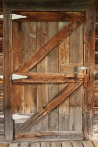 Cabin Doors & Manly Cabin Door With Antler Door Knob In ...