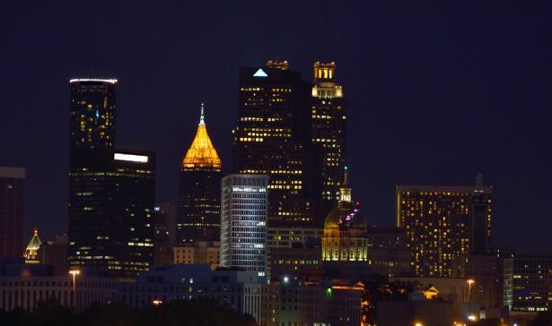 Atlanta Georgia At Night Free Stock Photo  Public Domain