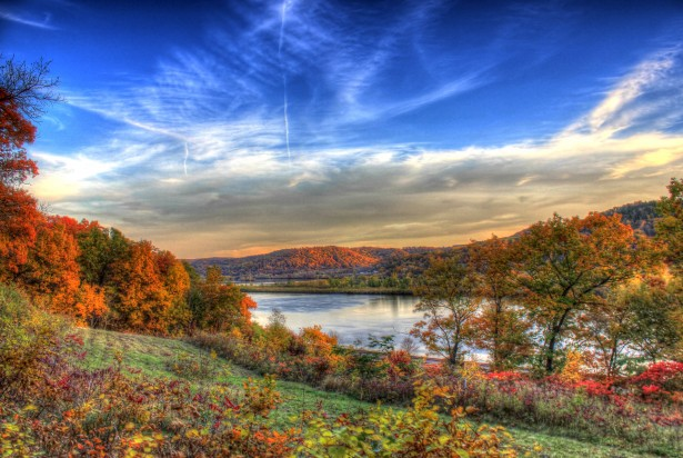 Fall Colors Wallpaper Beautiful Autumn River Valley Free Stock Photo Public