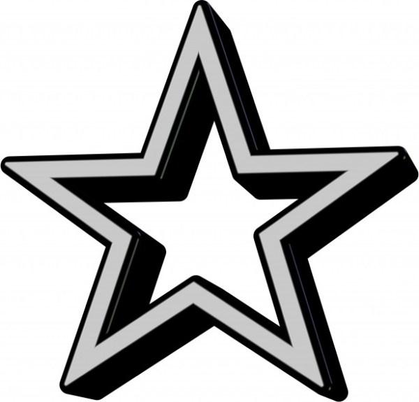 black star icon free stock