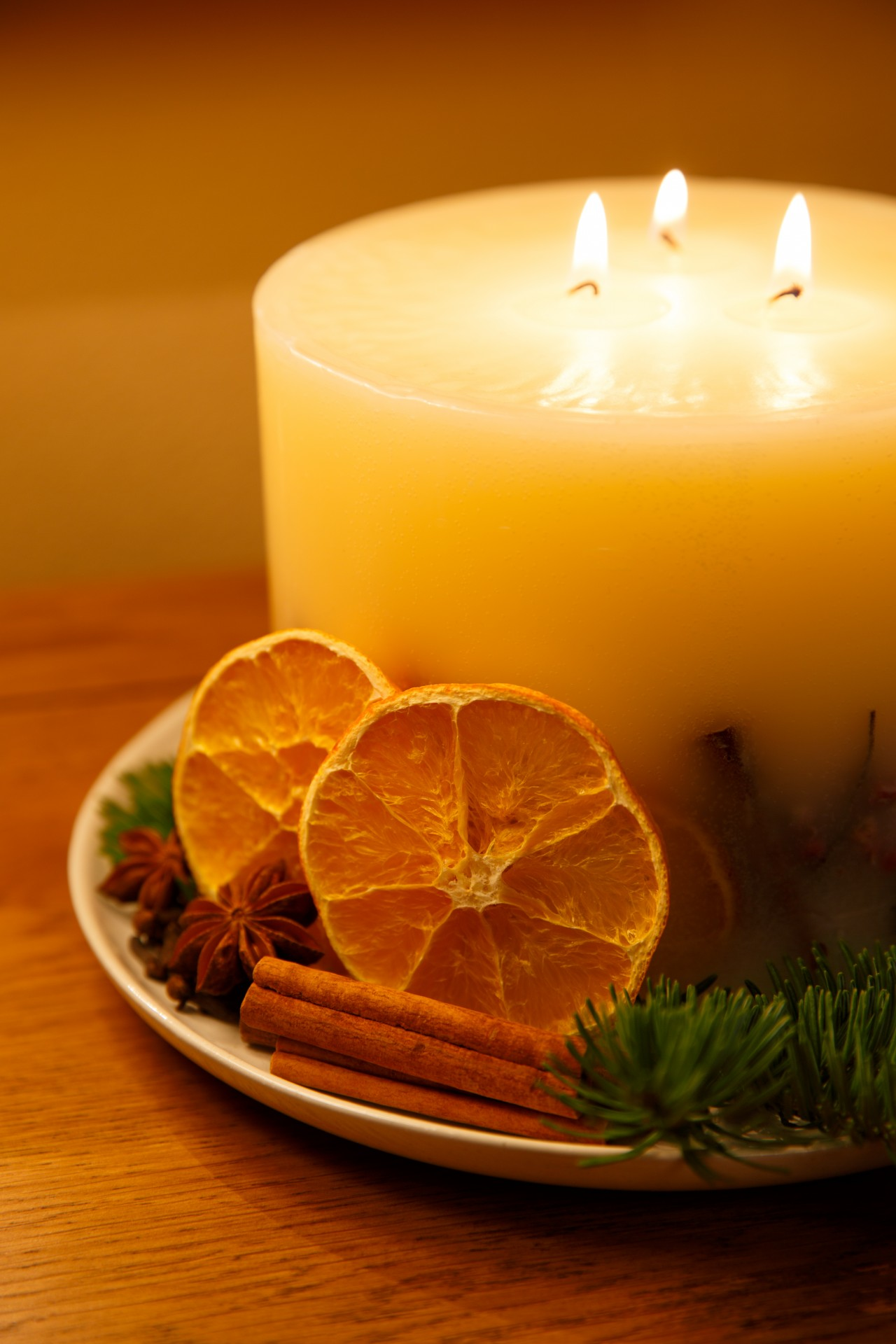 Christmas Candle Free Stock Photo  Public Domain Pictures