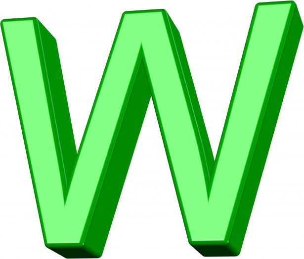 3D Green Letter W Free Stock Photo  Public Domain Pictures