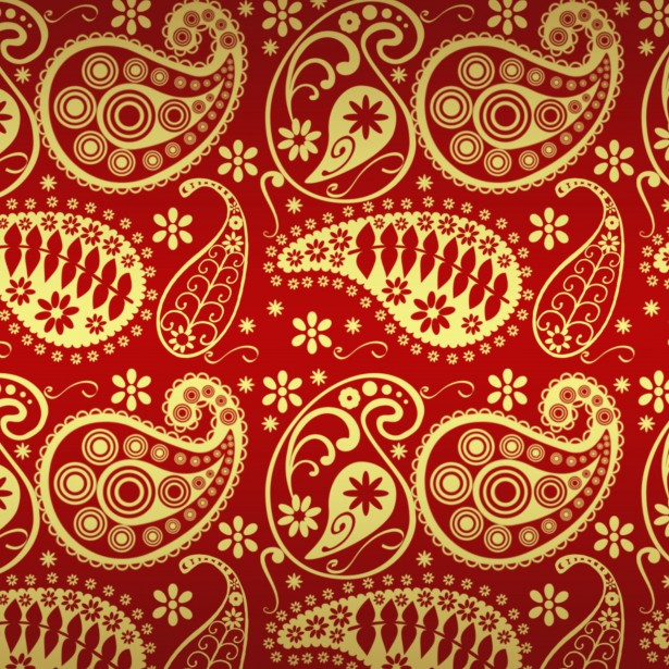 Red And Gold Paisley Paper Free Stock Photo  Public