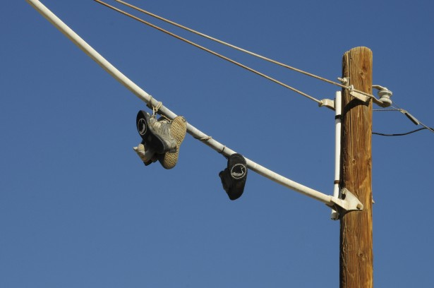 Telephone Pole Wire Tennis Shoes Free Stock Photo  Public
