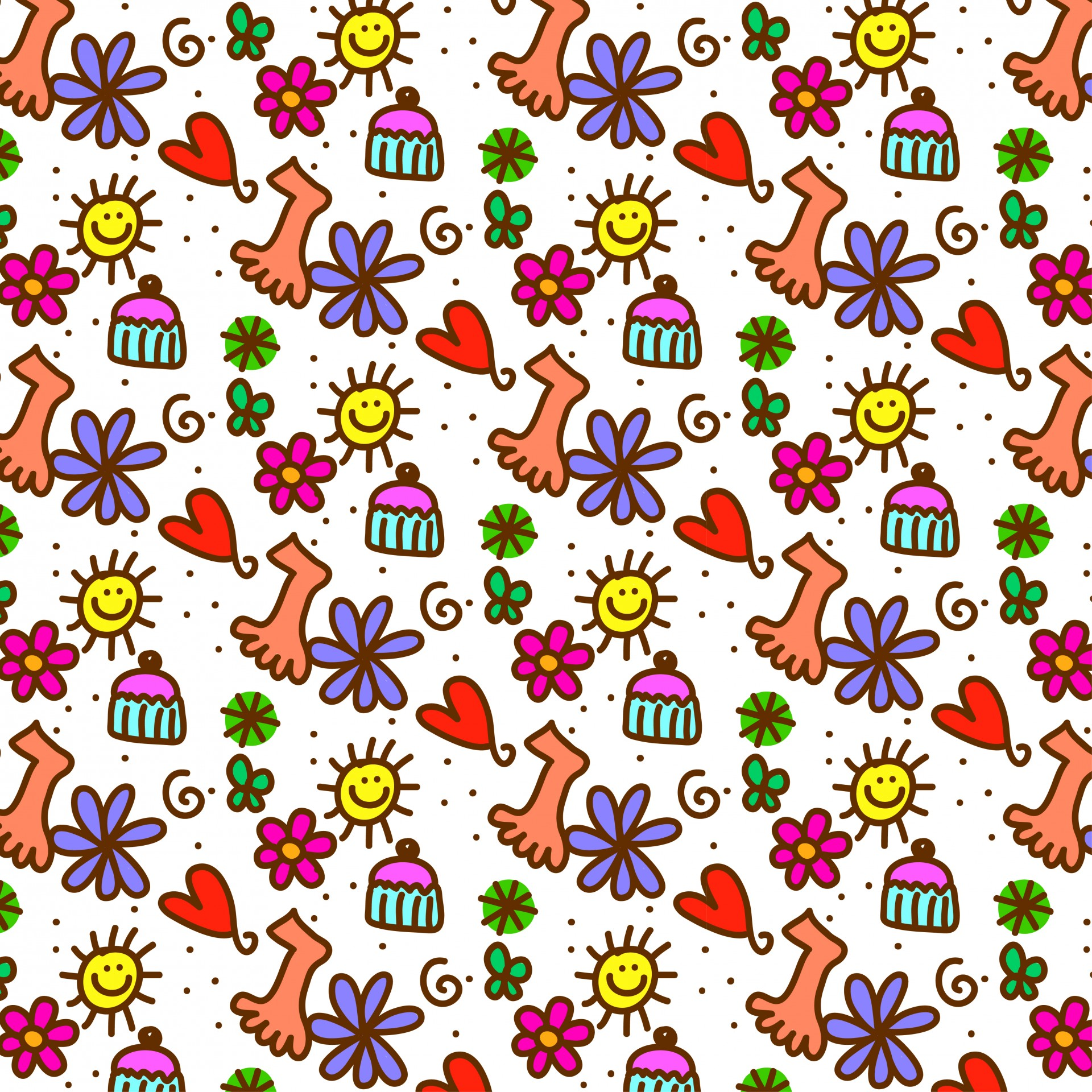 Cute Kawaii Animal Wallpapers Doodle Wallpaper Free Stock Photo Public Domain Pictures