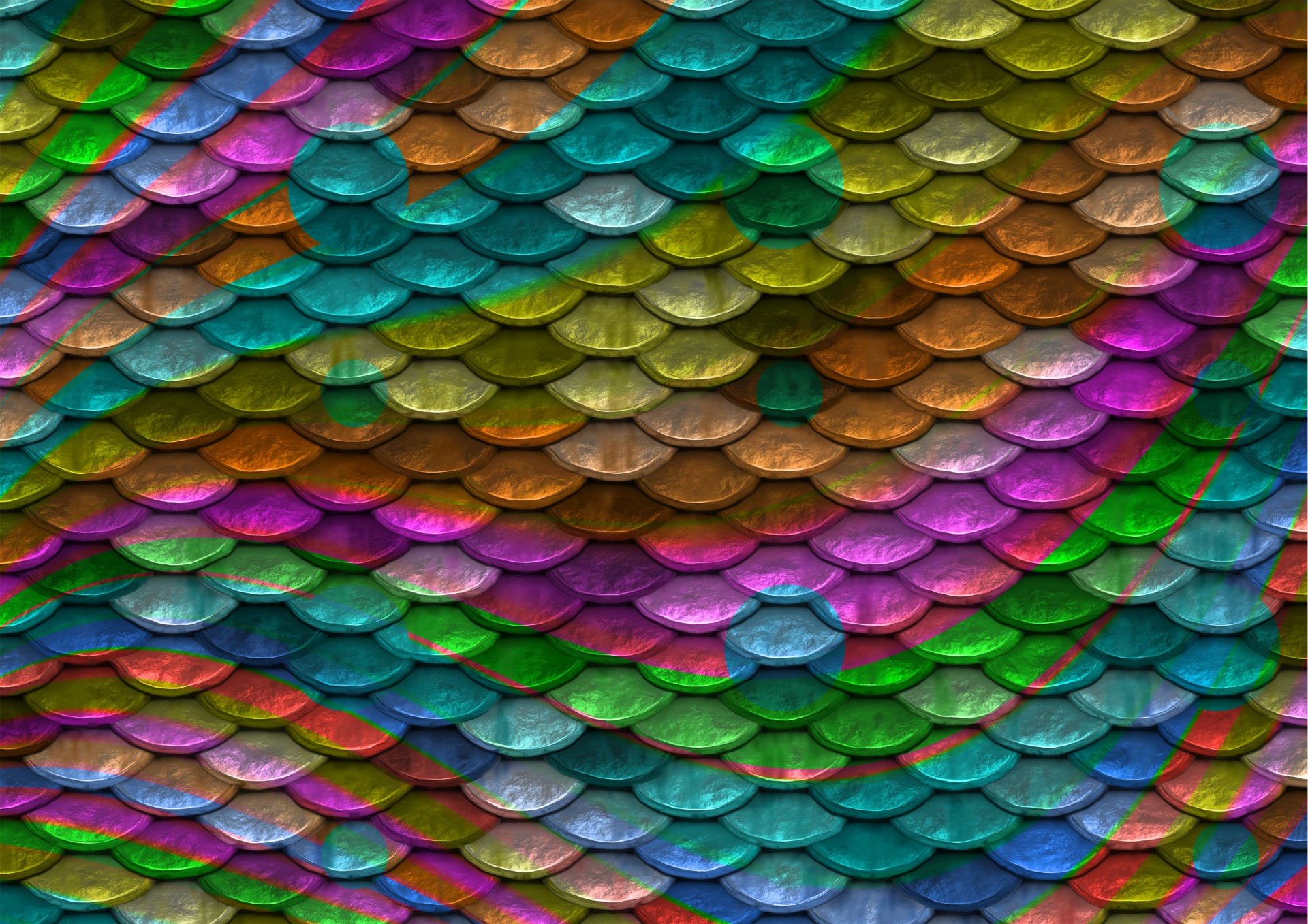 Scales Background Rainbow Colors Free Stock Photo
