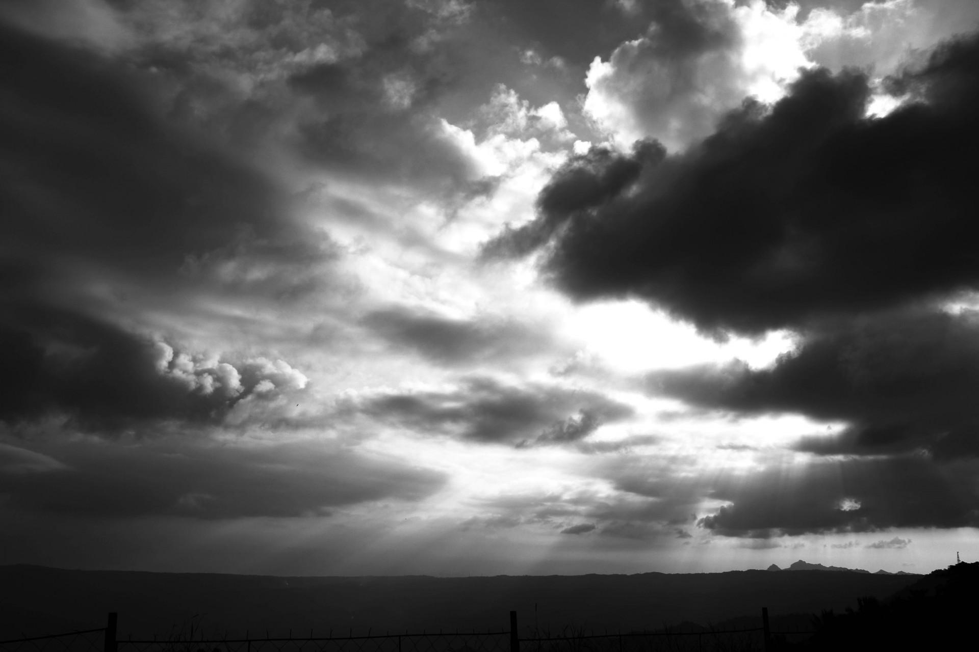 Sun Rays In The Dark Clouds Free Stock Photo Public