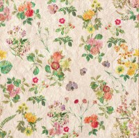 Vintage Flowers Wallpaper Pattern Free Stock Photo