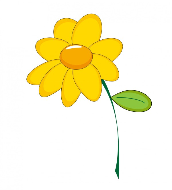 Yellow Flower Clipart Free Stock - Public Domain