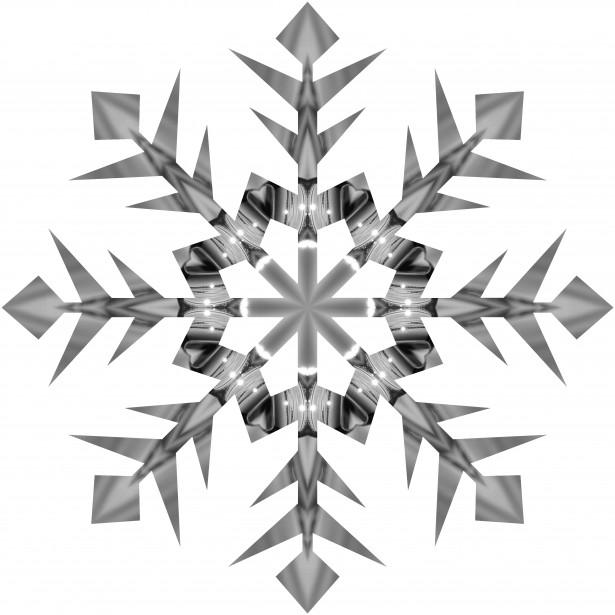Grey Snowflake 2 Free Stock Photo  Public Domain Pictures