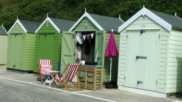 Beach Huts At The Beach