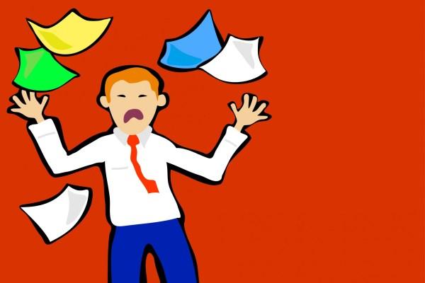 Stress Clip Art Cartoon