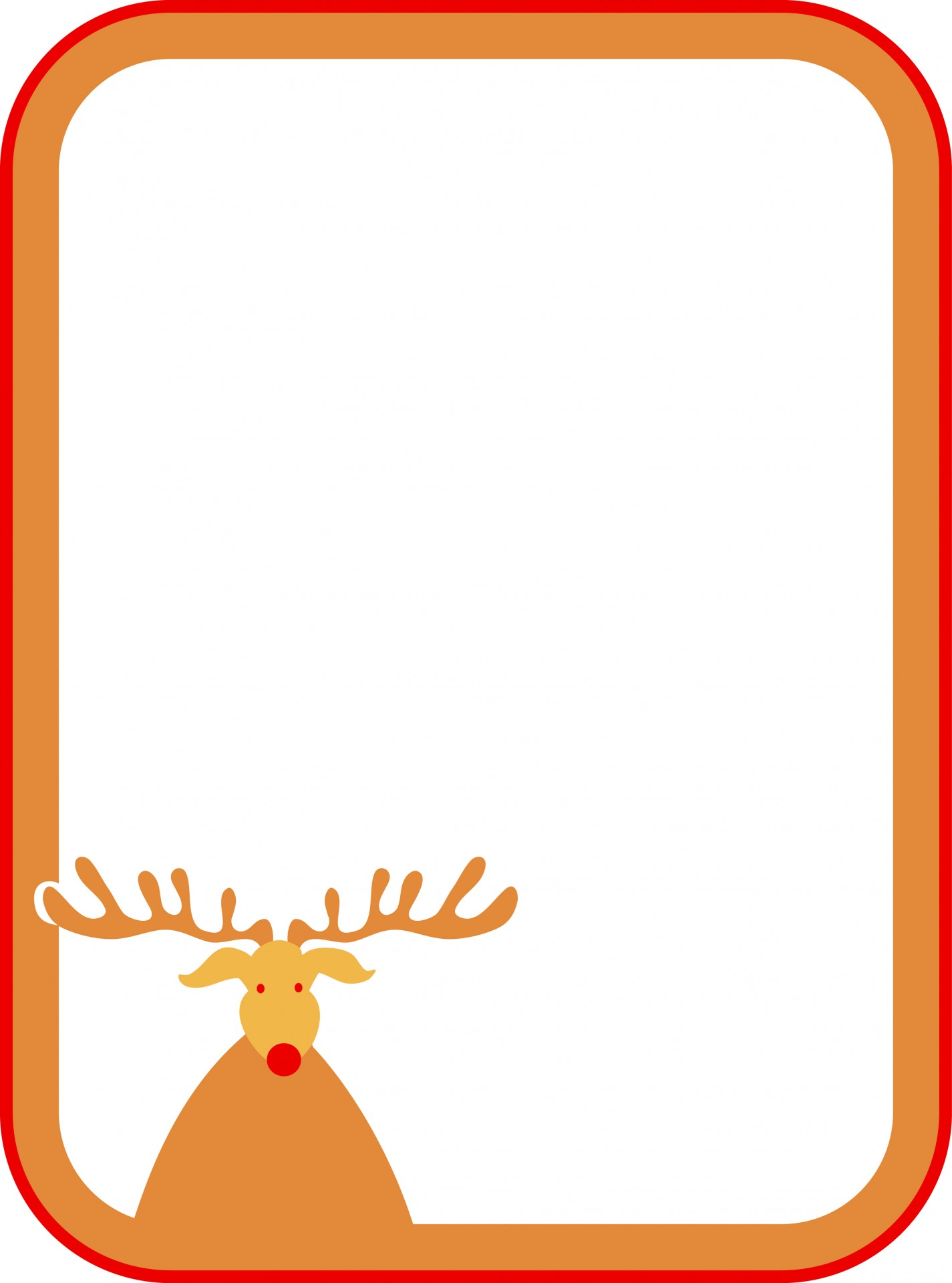 Rudolf Christmas Sign Free Stock Photo Public Domain