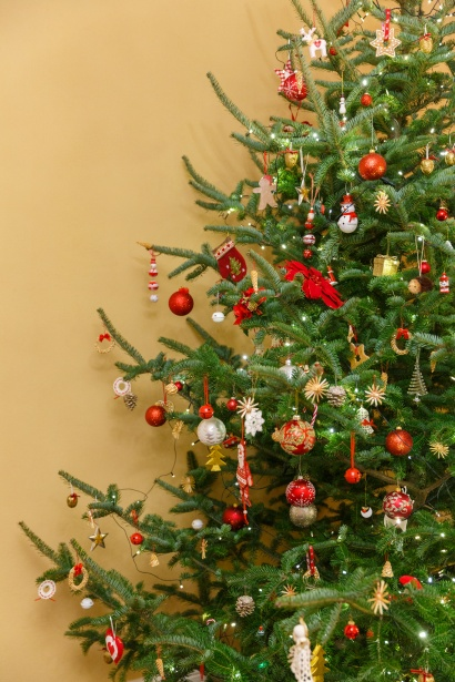 Christmas Tree In A Room Free Stock Photo  Public Domain