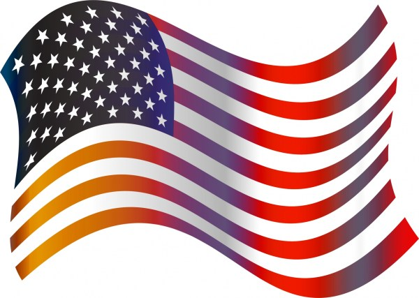 american flag clip art free stock