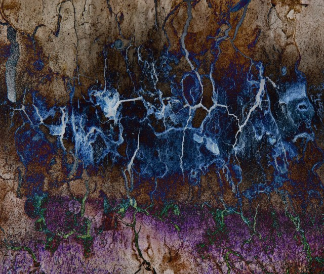 Blue Brown Abstract Lightning