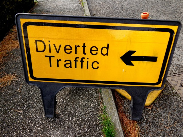 Diverted Traffic Sign Free Stock Photo - Public Domain Pictures