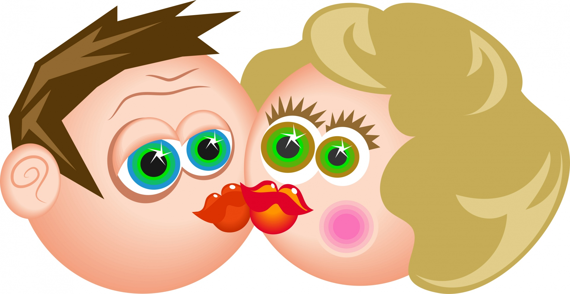 Image result for kissy face clipart