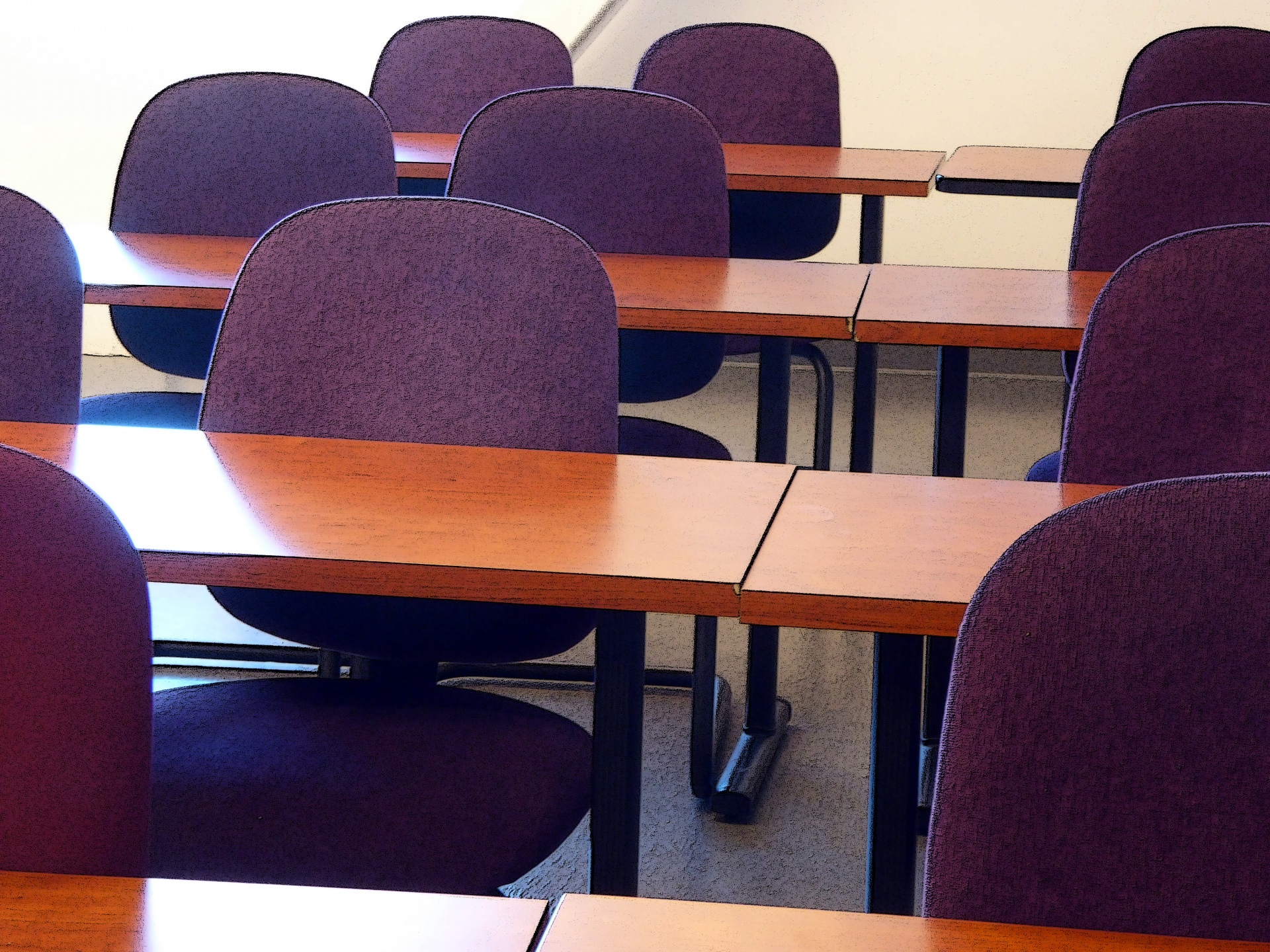 teacher table and chair paidar barber classroom tables chairs 2 free stock photo public