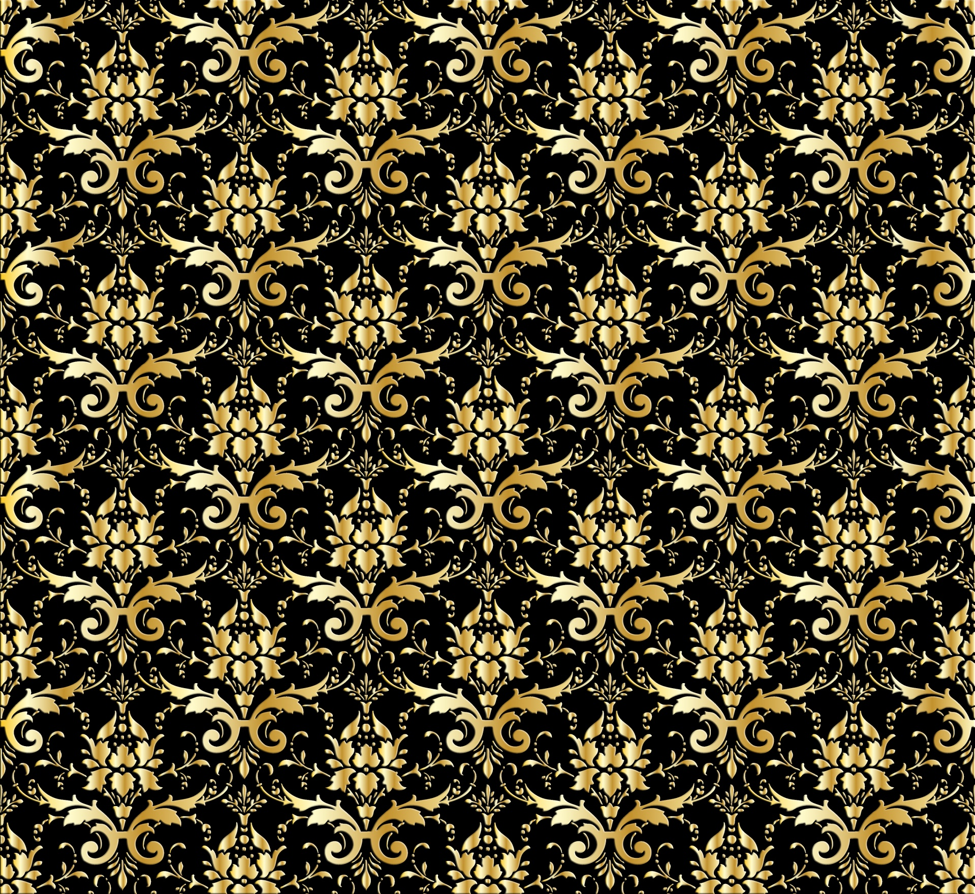 Vintage Black Wallpaper Damask Wallpaper Background Gold Free Stock Photo Public
