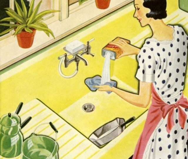 Retro Fifties Lady Housewife