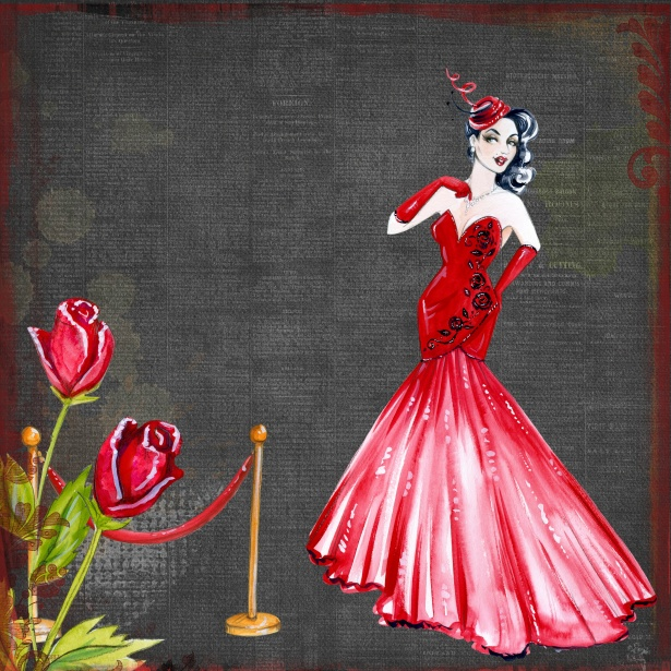 Retro Lady In Red Art Collage Free Stock Photo  Public