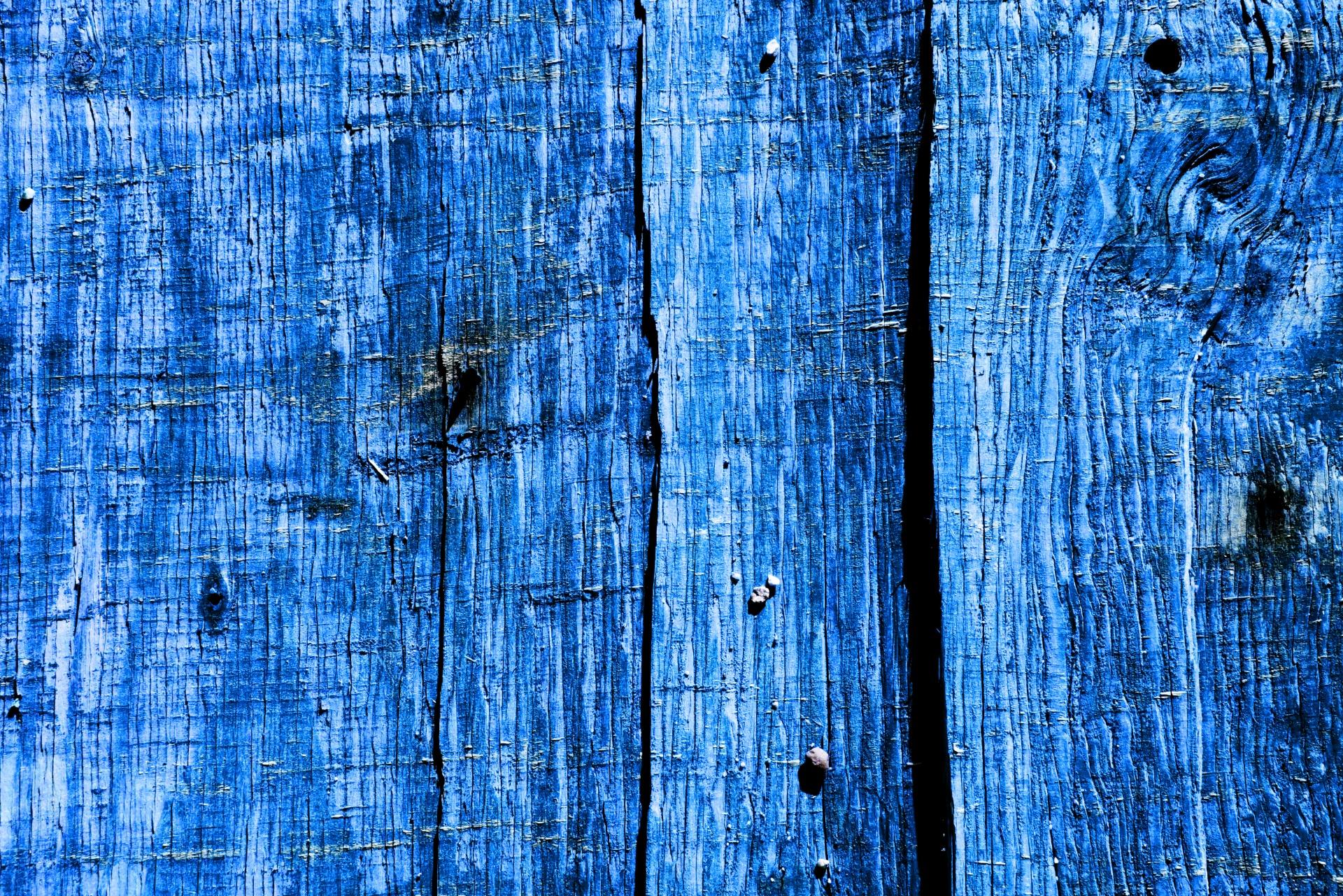 Blue Wood Fence Background Free Stock Photo  Public