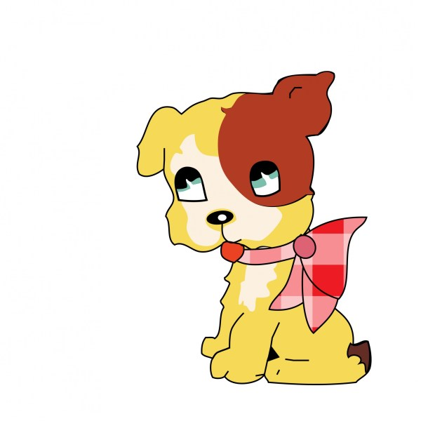 cute dog clipart free stock