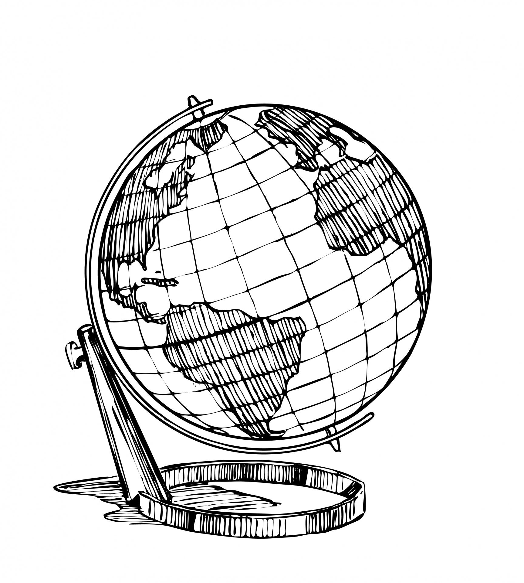 Globe Clipart Illustration Free Stock Photo